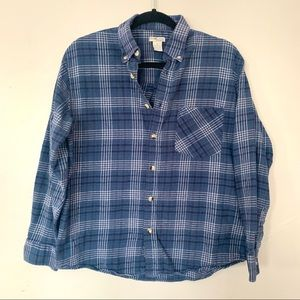Sun River Co Navy Long Sleeve Flannel Button Down